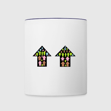 little huts - Contrast Coffee Mug