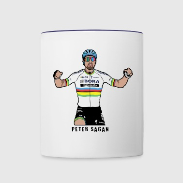 Peter Sagan Portrait, World Champion - Contrast Coffee Mug