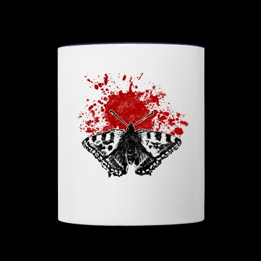 butterfly splatter - Contrast Coffee Mug