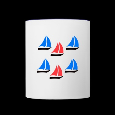 Boats - Contrast Coffee Mug