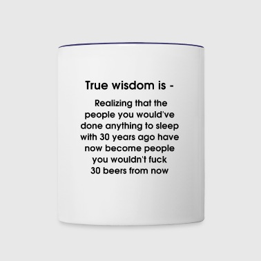True wisdom is - Contrast Coffee Mug