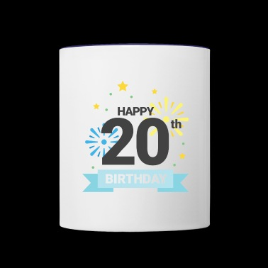 Happy 20th Birthday - Contrast Coffee Mug