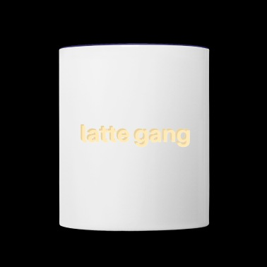 Latte gang - Contrast Coffee Mug