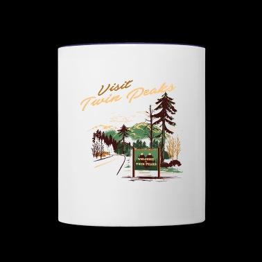 Twin peaks matchbook cover - Contrast Coffee Mug