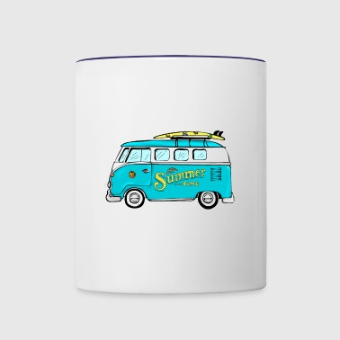Hippie van - Contrast Coffee Mug
