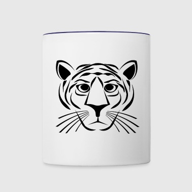 Tiger - Black - Contrast Coffee Mug