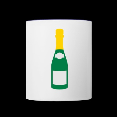 champagne bottle - Contrast Coffee Mug