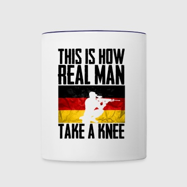 This is How Real Man Take a Knee German flag - Contrast Coffee Mug