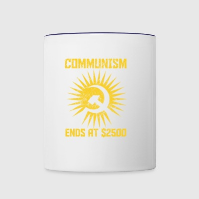 Communism ends at $2500 gift sozialism - Contrast Coffee Mug