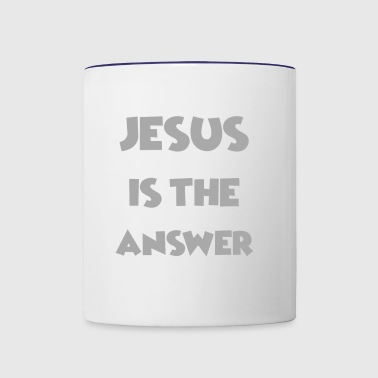 Jesus is the Answer - Love Jesus Shirts/ Designs - Contrast Coffee Mug