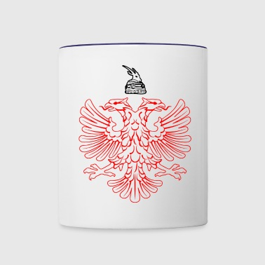 Albanian eagle with Skanderbeg helmet - Contrast Coffee Mug