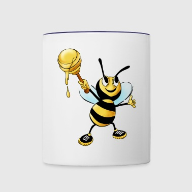 honey bee - Contrast Coffee Mug