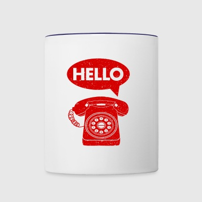 hello phone amazon - Contrast Coffee Mug
