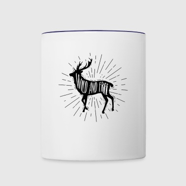 Wild and Free Outdoorsy Deer - Contrast Coffee Mug