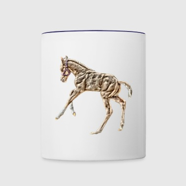 Horse foal playing - Contrast Coffee Mug