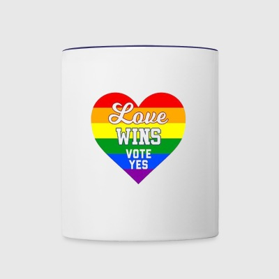 yes vote in marriage equality - Contrast Coffee Mug
