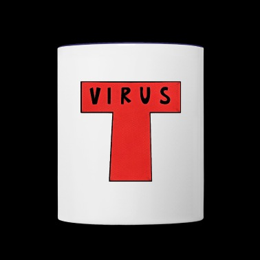 virus - Contrast Coffee Mug