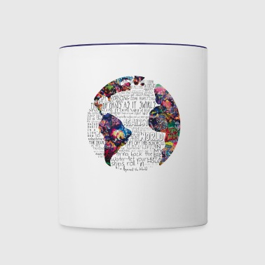 world map - Contrast Coffee Mug