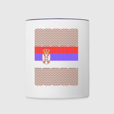 Serbian Ugly Christmas Sweater - Contrast Coffee Mug