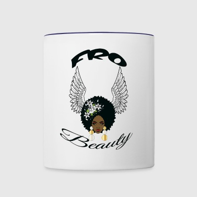 ron s angel wings girl - Contrast Coffee Mug