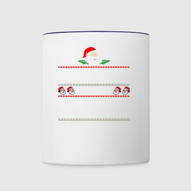 Be Nice To Travel Agent Santa Is Watching - Contrast Coffee Mug