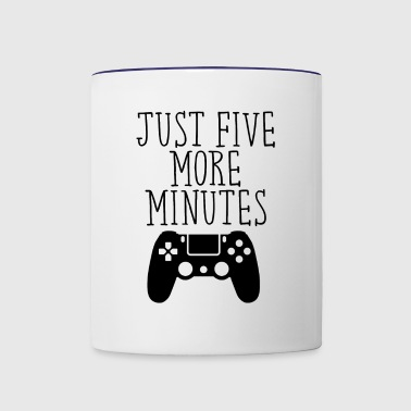 JUST FIVE MORE MINUTES PS - Contrast Coffee Mug