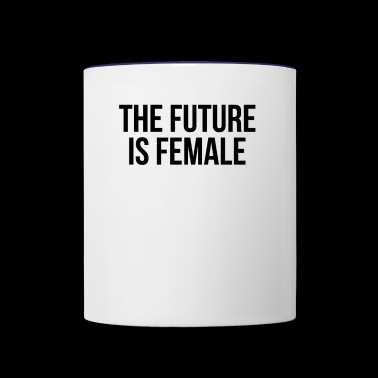 The future is female - Contrast Coffee Mug