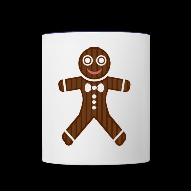 gingerbread man - Contrast Coffee Mug