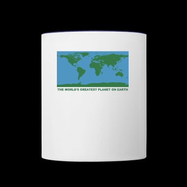 THE WORLD'S GREATEST PLANET ON EARTH - Contrast Coffee Mug