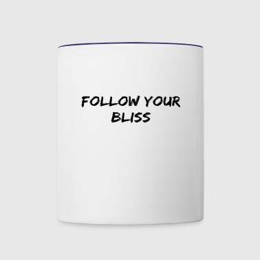 Follow Your Bliss - Contrast Coffee Mug