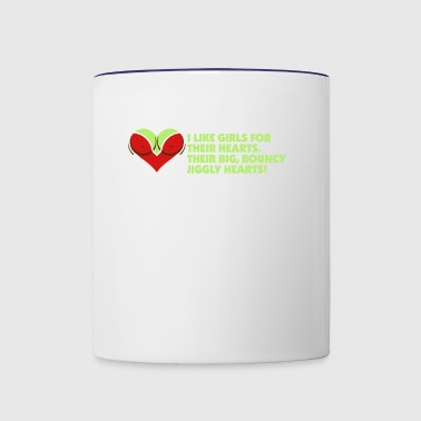 I Love Women For Their Hearts - Contrast Coffee Mug