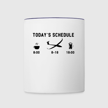 today schedule glider pilot - Contrast Coffee Mug