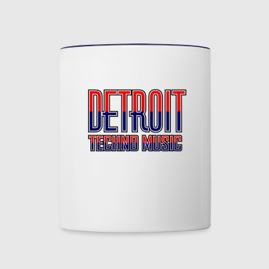 Detroit Techno Music - Contrast Coffee Mug