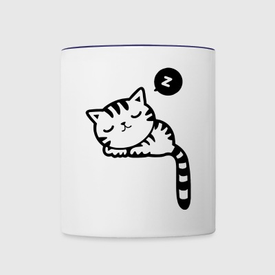 Sleeping Kitty - Contrast Coffee Mug