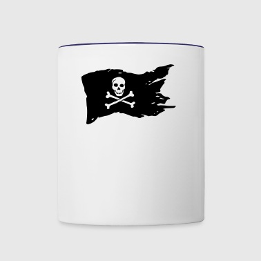 pirate flag (variable colors!) - Contrast Coffee Mug