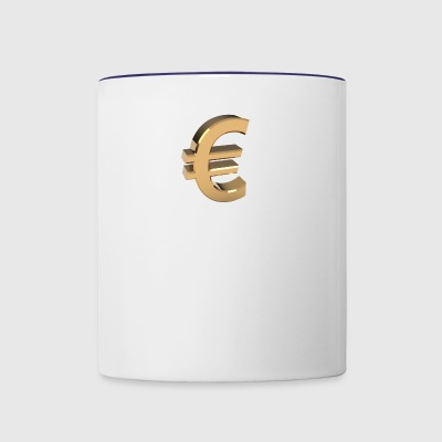 Currency, euro - Contrast Coffee Mug
