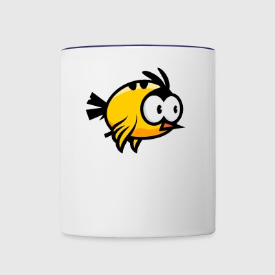 yellow bird - Contrast Coffee Mug