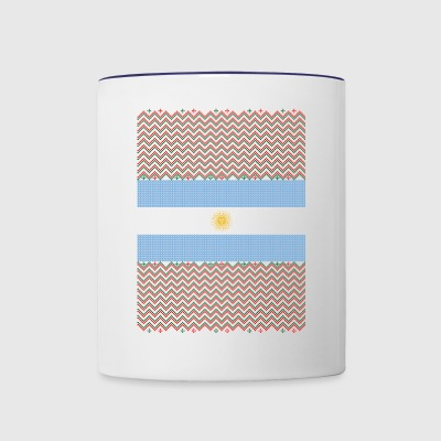 Argentinean Ugly Christmas Sweater - Contrast Coffee Mug