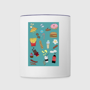 Junkfood Galore - Contrast Coffee Mug