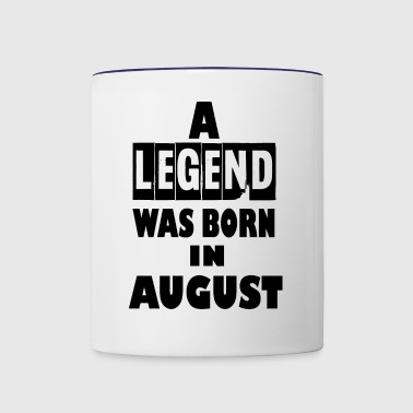 august - Contrast Coffee Mug