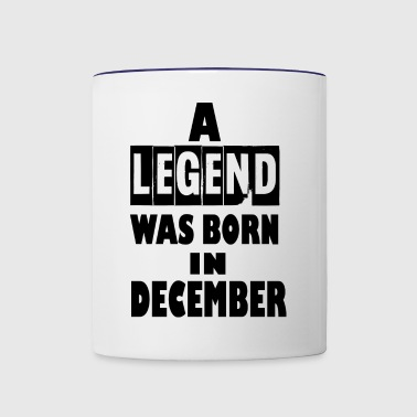 december - Contrast Coffee Mug