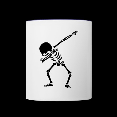 dubbing skeleton - Contrast Coffee Mug