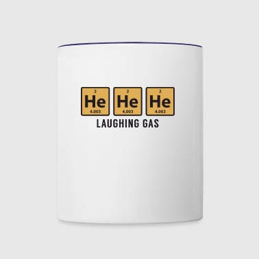 Science Chemical He He He Laughing Gas Funny Gift - Contrast Coffee Mug