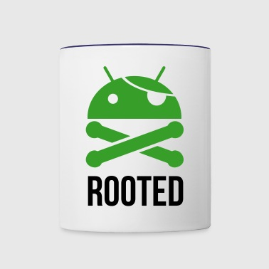 ANDROID ROOTED - Contrast Coffee Mug