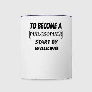 to become a philosopher - Contrast Coffee Mug
