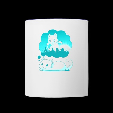 WORLD DOMINATION - Contrast Coffee Mug