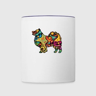 Psychedelic Finnish Lapphund - Contrast Coffee Mug