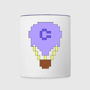 Pimped up C64 sprite balloon - Contrast Coffee Mug