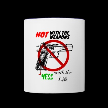 NO GUN - Contrast Coffee Mug