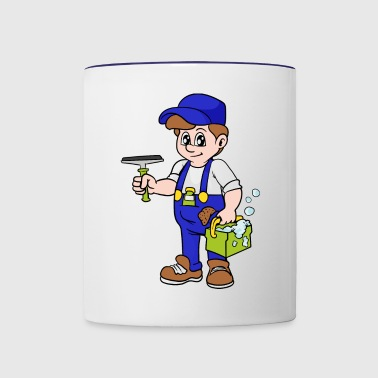Window Cleaner - Contrast Coffee Mug